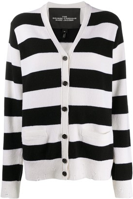 Marc Jacobs Striped Long-Sleeve Cardigan