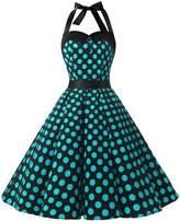 Dressystar Vintage Polka Dot Retro Cocktail Prom Dresses 50's 60's Rockabilly Bandage s