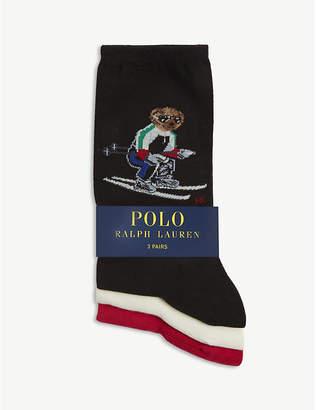 Polo Ralph Lauren Ski Polo Bear cotton-blend socks pack of 3