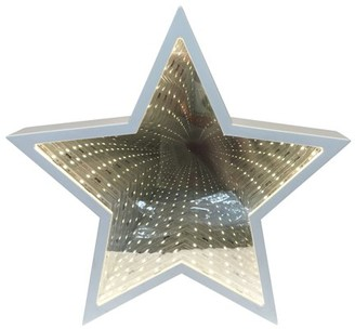 Creative Motion Star Tunnel Mirror Light, 3 x AA batteries Battery-Operated. Center piece, Party, Night Light, Event Desktop, Hanging both ways;Product Size: 9.5x9.25x2. Office Home, Shop, Science School Event