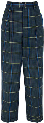 High Rational checked tapered trousers