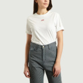 Les Expatries LES EXPATRIES - White Cotton Citizens Embroidered T-Shirt - xs | cotton | white - White/White