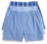 Polo Ralph Lauren Men's 3-Pack Woven Cotton Boxers