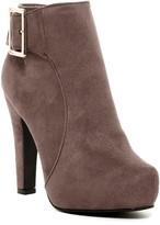 Elegant Footwear Furry Buckle Platform Bootie