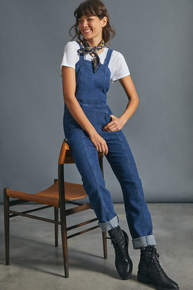 AG Jeans The Calli Slim Ribbed Overalls By in Blue Size XS