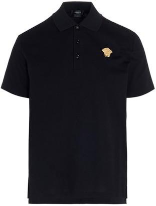 Versace Medusa Embroidered Polo Shirt