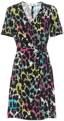 Diane von Furstenberg Saville printed crepe wrap dress
