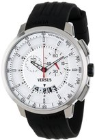 Versus By Versace Men's SGV010013 Manhattan Stainless Steel Watch with Black Rubber Band