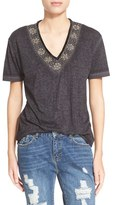 The Kooples Women's Embellished V-Neck Tee