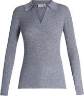 Frame V-neck wool-blend sweater