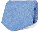 Drakes Drake's - 8cm Herringbone Wool, Silk and Linen-Blend Tie