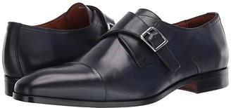 Massimo Matteo Desk Single Monk (Black) Men's Shoes