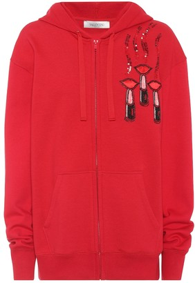 Valentino Embroidered cotton hoodie
