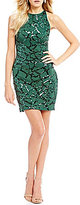 B. Darlin Sequin-Pattern Sheath Dress