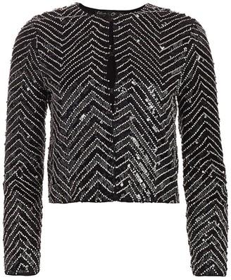 Alice + Olivia Kidman Embellished Boxy Jacket