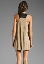 Mason by Michelle Mason Leather Strap Tank Dress