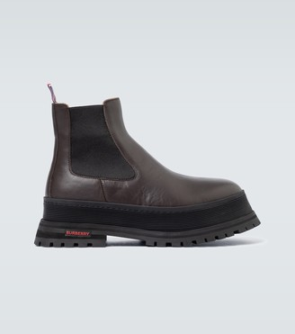 Burberry Jeffrey Chelsea leather boots