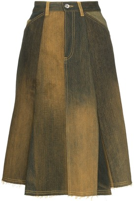 Marine Serre Ombre Flared Skirt