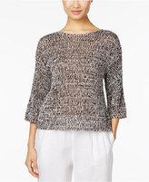 Eileen Fisher Organic Cotton-Blend Boxy Sweater, Regular & Petite