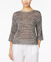 Eileen Fisher Organic Cotton-Blend Boxy Top, Regular & Petite