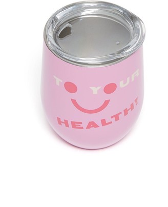 ban.do Stainless Steel Cup with Lid, To Your Health