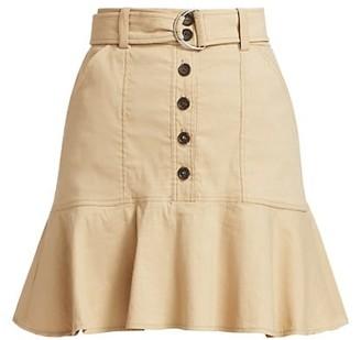 A.L.C. Miley Button-Front Flirty Skirt
