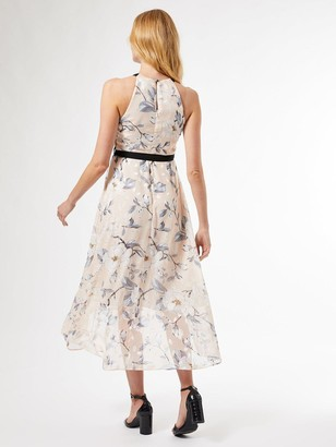 Dorothy Perkins Luxe Mono Burnout Halter Midaxi Dress