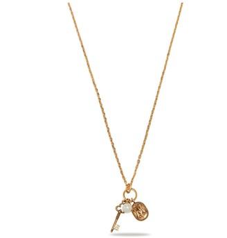 Mulberry Blazon Pendant Necklace Antique Gold