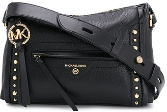 Michael Kors Studded Logo Shoulder Bag