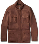 Loro Piana - Traveller Cashmere-lined Nubuck Field Jacket