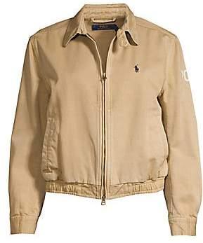 Polo Ralph Lauren Women's Logo Windbreaker Bomber Jacket