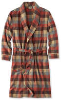 L.L. Bean Chamois Cloth Robe, Plaid
