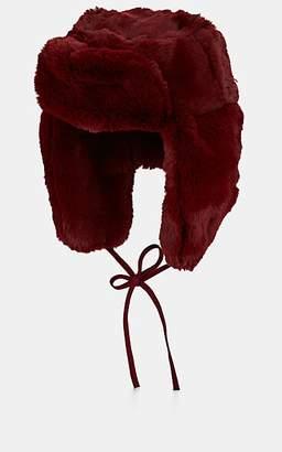 Paul Smith Men's Faux-Fur Trapper Hat - Wine