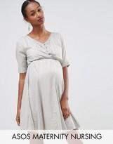 ASOS Maternity - Nursing ASOS Maternity NURSING Skater Dress In Dobby Spot