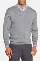 Cutter & Buck 'Douglas' Merino Wool Blend V-Neck Sweater (Online Only)