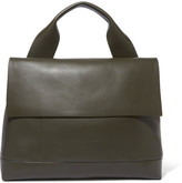 Marni City Pod Leather Tote - Army green
