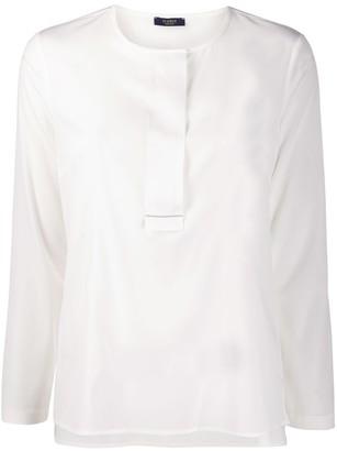 Peserico collarless round-neck blouse