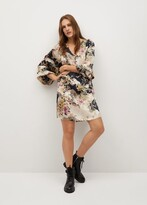 Thumbnail for your product : MANGO Oriental print dress
