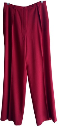 Ungaro Red Wool Trousers