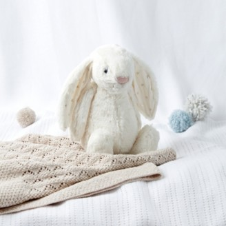 The White Company Jellycat Medium Bashful Twinkle Bunny Toy, Multi, One Size