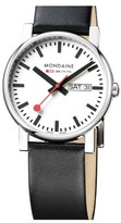 Mondaine '(Evo)lution' Leather Strap Watch, 38mm