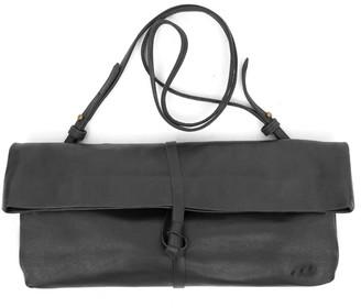 Kmana Chatwin Leather Clutch & Cross Body - Black