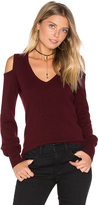 Autumn Cashmere Cold Shoulder V Neck Sweater