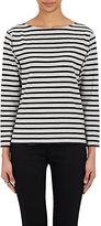 Saint Laurent Women's Striped Bateau-Neck Top-GREY, BLACK