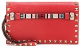 Valentino Garavani Embellished leather clutch
