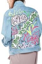 Topshop Women's Graffiti Denim Jacket