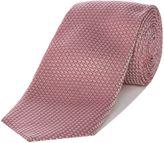 Corsivo Palmino Textured Plain Italian Silk Tie