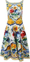 Dolce & Gabbana Maiolica Low Back Dress