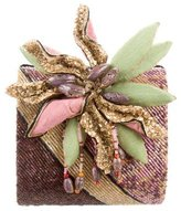 Mary Frances Beaded Floral Accented Clutch