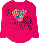 Nike Long-Sleeve Heart Geo Tee - Preschool Girls 4-6x